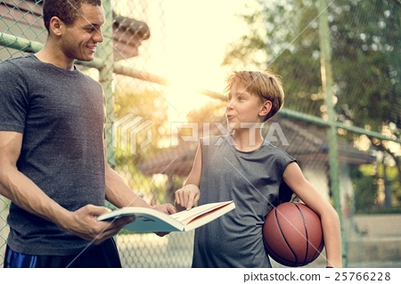 Coaching Basketball Sport Athlete Exercise Game Concept 25766228