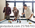 Friends Playing Billiard Relaxation Happiness Concept 25766703