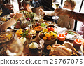 People Cheers Celebrating Thanksgiving Holiday Concept 25767075
