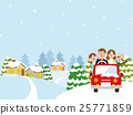 family, winter, vector 25771859