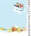 Family travel planes Winter streets 25771860