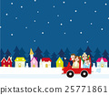 family, winter, vector 25771861