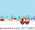 family, winter, vector 25771862