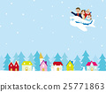 Family travel planes Winter streets 25771863