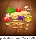 Dry Pasta pasta realistic composition Poster 25772596