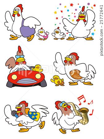 鸡(鸡)字符 25772641