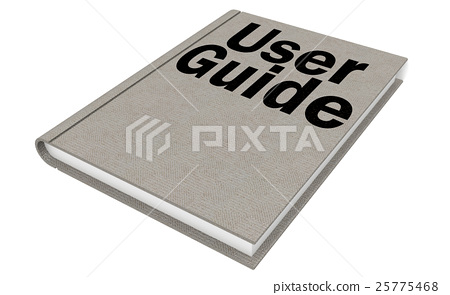 User guide Isolated on the white background 25775468
