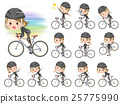 black high necked women ride on rode bicycle 25775990