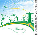 brazil background with flag and sport symbol 25776580