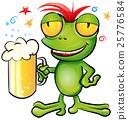 .frog cartoon with schooner beer 25776584