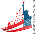 new york city symbol on USA flag 25776588