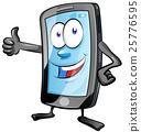 mobile phone cartoon 25776595