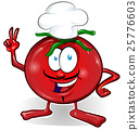 fun tomato chef  cartoon isolated  25776603