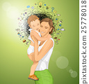 Vector Woman With Child 25778018