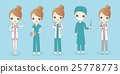 woman doctor wear different clothes 25778773