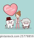 Happy cartoon old tooth 25778856