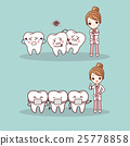 cute cartoon tooth braces 25778858