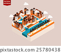 isometric style design concept of Amsterdam city 25780438