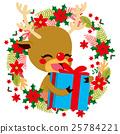 Reindeer Christmas Gift Giving 25784221