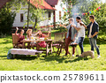 friends drinking beer at summer barbecue party 25789611