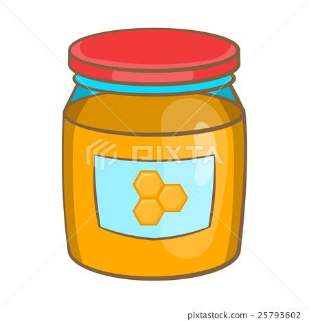 Jar of honey icon, cartoon style 25793602