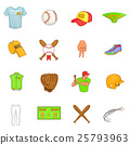 baseball, icons, collection 25793963