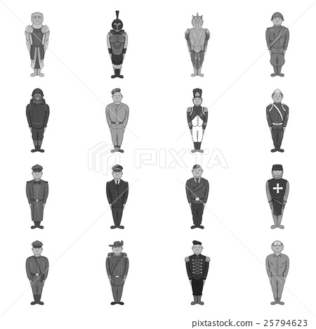 Military army soldiers uniform icons set 25794623