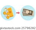 插圖素材黃金購買 25796282