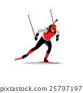 Biathlete vector sign 25797197