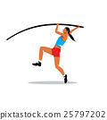 Pole vaulting vector sign 25797202