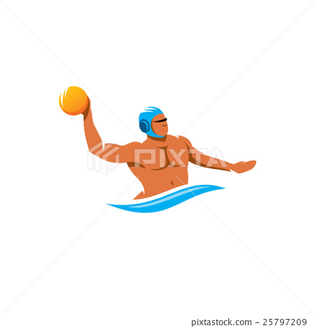 Water polo player vector sign 25797209