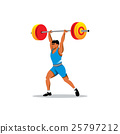 Weightlifting vector sign 25797212
