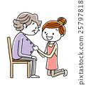护理 老人 矢量 25797818