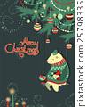 christmas, vector, bear 25798335