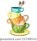 Stacked tea cups 25798543