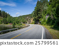 road, curved, mountain 25799561