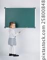 cute little girl with blackboard 25800848