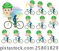 Blue clothing glass dad on rode bicycle 25801829