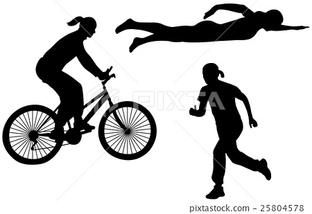 triathlon silhouettes 25804578