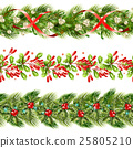 seamless, pattern, christmas 25805210