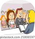 Couple Bride Groom Civil Wedding 25806597