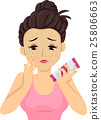 Teen Girl Pimple Breakout Apply Product 25806663