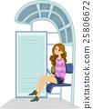 Teen Girl Bus Stop 25806672