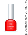 Nail Polish Professional Series Red Bottle. 25807965
