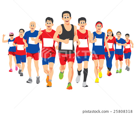 RUNNING PEOPLE VECTOR CONCEPT 25808318