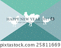 new, year's, card 25811669
