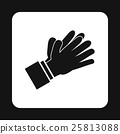 Clapping applauding hands icon, simple style 25813088
