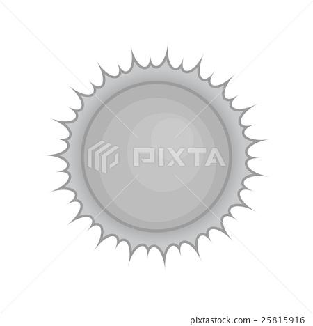Sun icon, black monochrome style 25815916