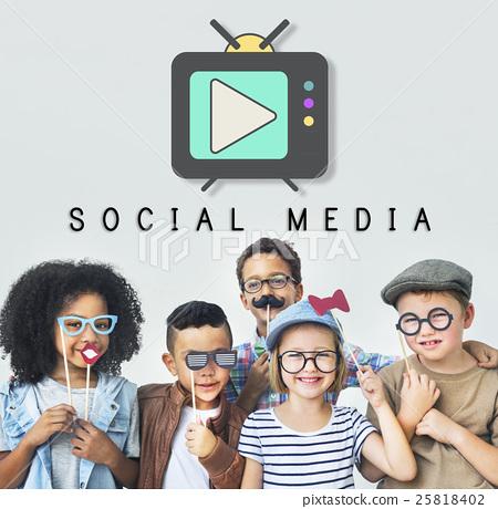 TV Play Button Media Entertainment Graphic Concept 25818402
