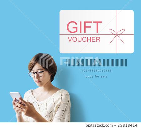 Gift Voucher Promo Code Concept 25818414